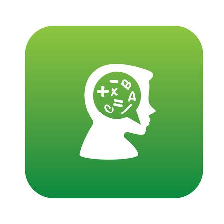 brain storm: Brain storm symbol,sticker design,green version,clean vector