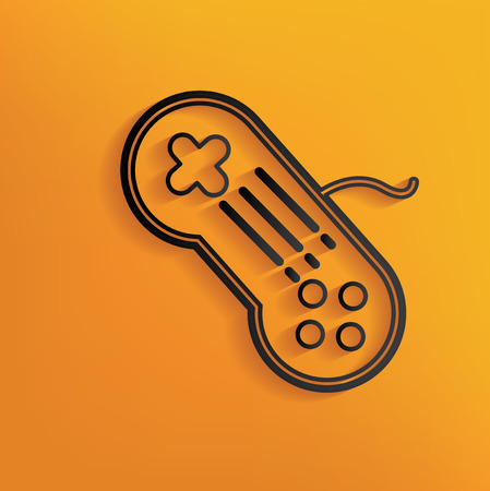 Game design on yellow background,clean vector Vector