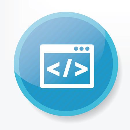 kódování: Kódování na modré tlačítko ploché