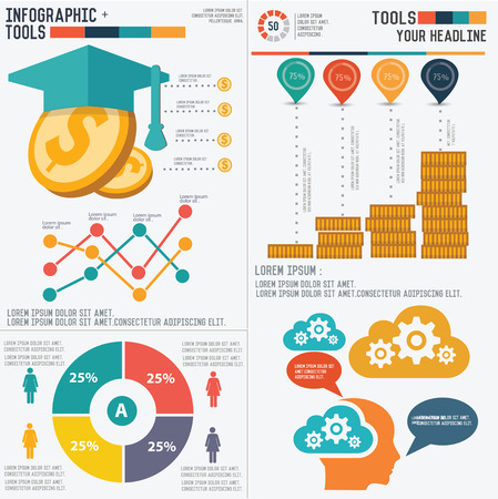 Education infographic design on white background Illustration