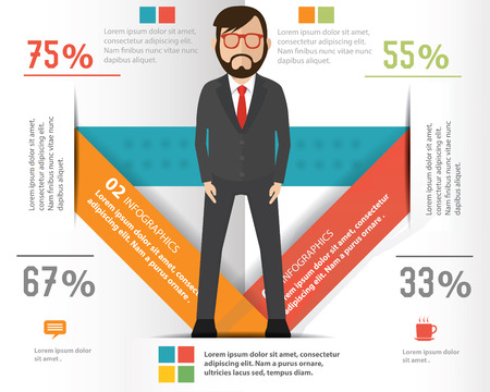 Businessman infographic design on white background Vector