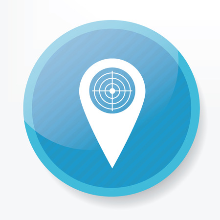 places of interest: Local service on blue flat button,clean vector