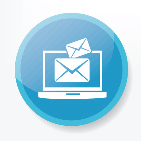 blue button: Email on blue button