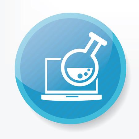 blue button: Research laptop on blue button