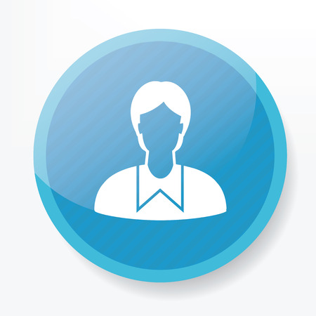 Student symbol design on blue button