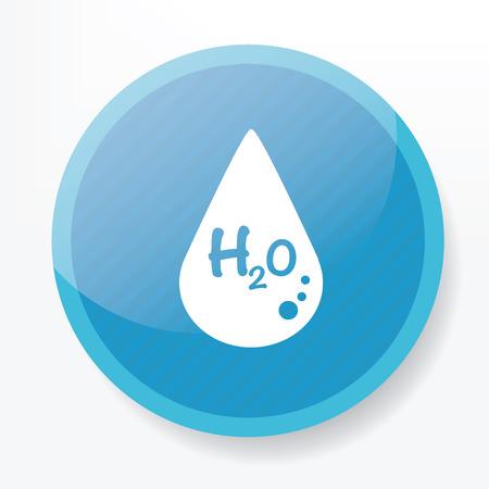 potable: Water symbol design on blue button