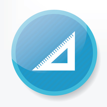 whitern: Ruler symbol design on blue button,clean vector