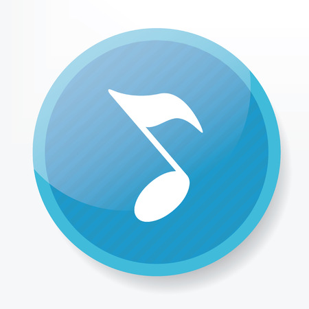 trill: Song design on blue flat button