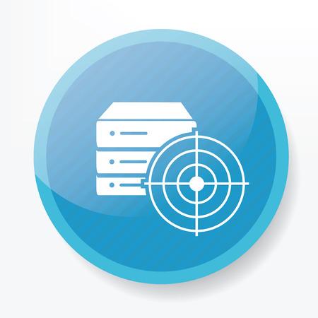 blue button: Database on blue button