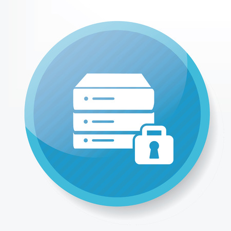 Lock database on blue button