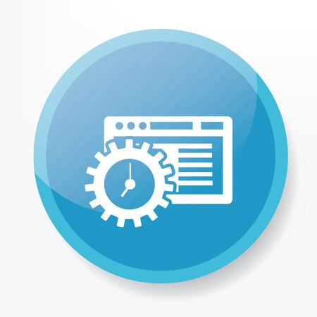 ic�ne logiciel: Logiciel ic�ne sur le bouton bleu, vecteur propre