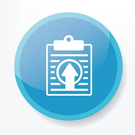 yellowrn: Upload on blue button,clean vector Illustration
