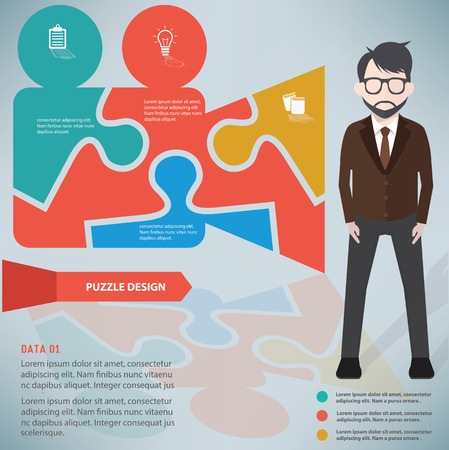 yellowrn: Video puzzle design,info graphic design and character,clean vector Illustration