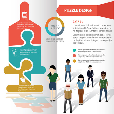 saline: Saline puzzle info graphic design and character,clean vector
