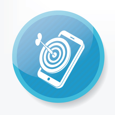 mobil: Goal on mobile on blue button