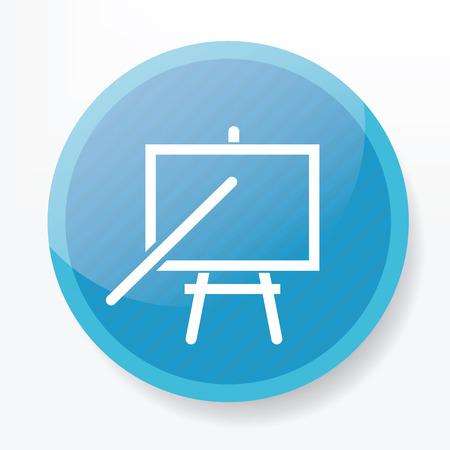 blue button: Tutorial on blue button