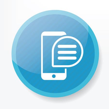 blue button: Message on blue button