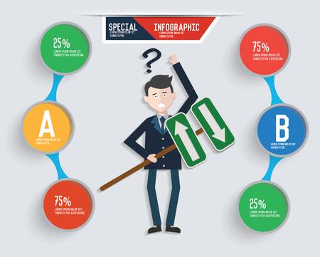 vectorrn: Businessman info graphic design,clean vector Illustration
