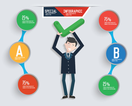 dudando: Info Empresario diseño gráfico, vector limpio