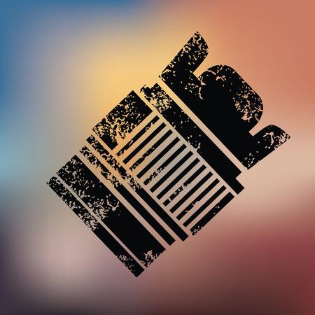 Lens design on blur background,grunge vector Illustration