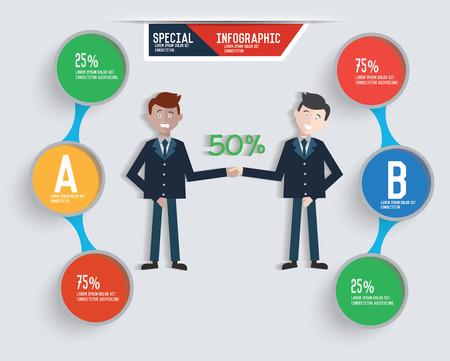 Businessman info graphic design,clean vector Illustration