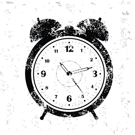 arousing: Clock design on old paper,grunge vector
