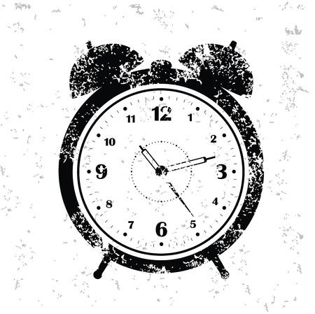 Clock design on old paper,grunge vector