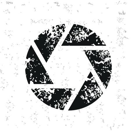 shutter: Shutter design on old paper Illustration