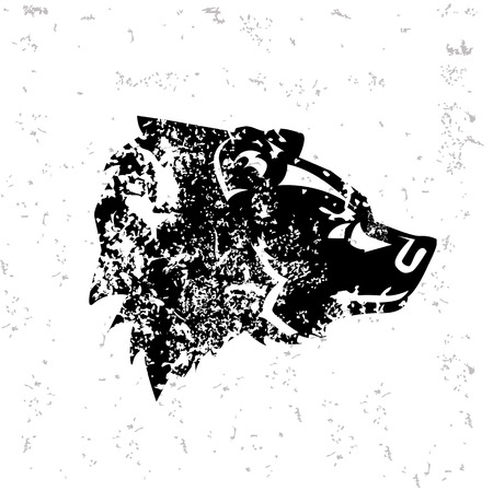 Bear design on old paper Vector