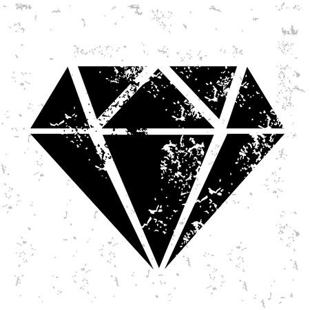 karat: Diamond design on old paper Illustration