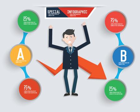 bad idea: Businessman info graphic design