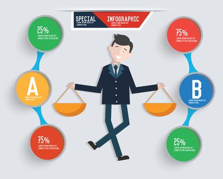 possibilities: Businessman info graphic design