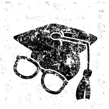 Education design on old paper