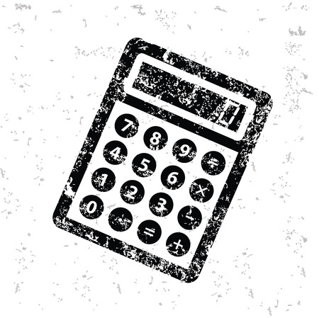 calculate: Calculate design on old paper,grunge vector Illustration