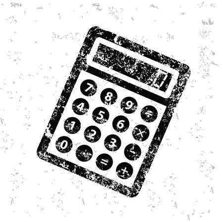 Calculate design on old paper,grunge vector Illustration