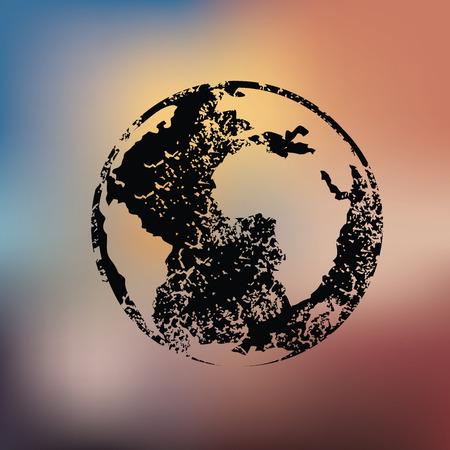 realist: Global design on blur background