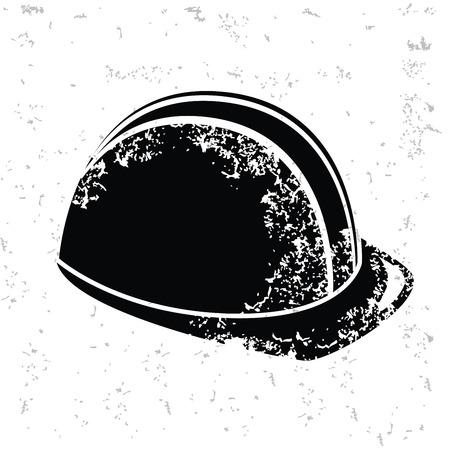 Hat security design on old paper,grunge vector