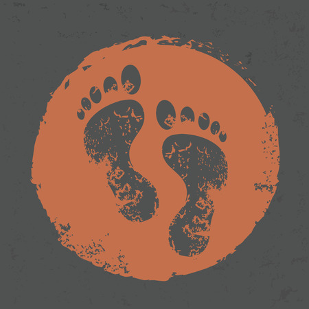 whitern: Foot design on grunge background Illustration