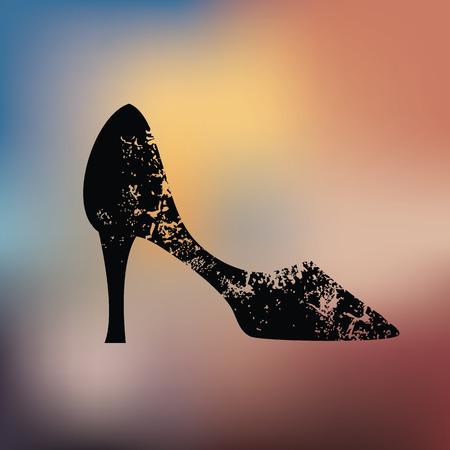 Shoe design on blur background Illustration