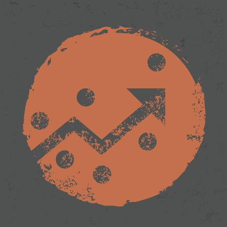 slowdown: Strategy design on grunge background Illustration