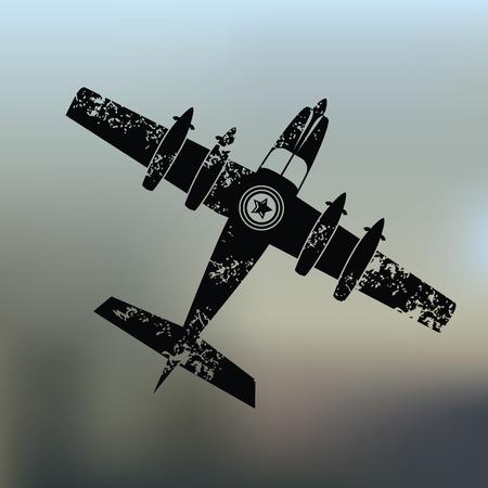 whitern: Airplane design on blur background