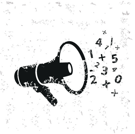 Megaphone design on grunge background, grunge vector
