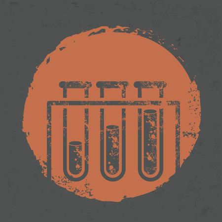 Science design on grunge background,grunge vector Illustration