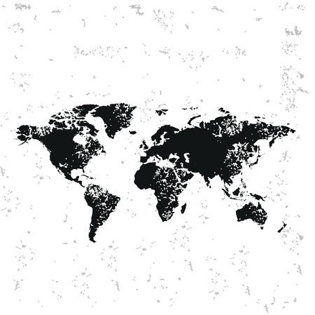 Map design on old paper
