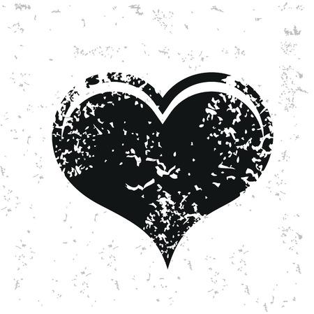whitern: Heart design on old paper,grunge vector