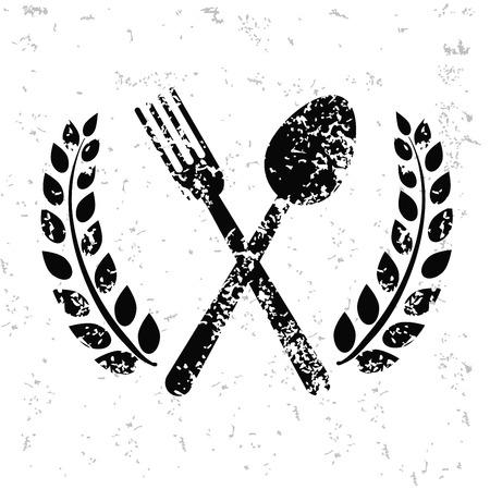 homemaker: Spoon design on old paper