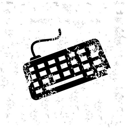 yellowrn: Keyboard design on old paper Illustration