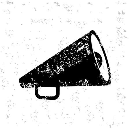 megaphone icon: Megaphone design on old paper Illustration