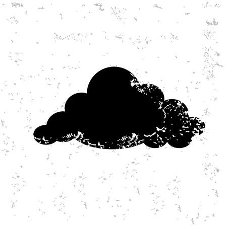 Cloud design on old paper Illustration