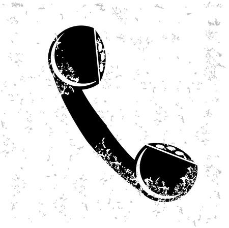 old telephone: Telephone design on old paper Illustration